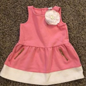 Janie and Jack Pink Dress with flower 6-12 months